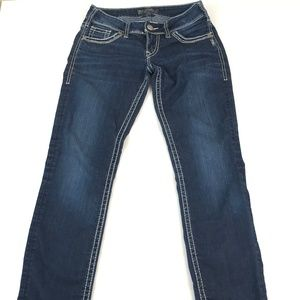 Silver Women's Suki Skinny Dark Blue Jean W26 L31